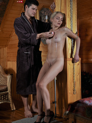 Little blonde enslaved hottie taking rough punishment - Picture 8