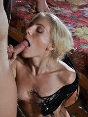 Little blonde enslaved hottie taking rough punishment - Picture 12