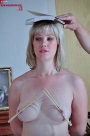 big boobed blonde slave