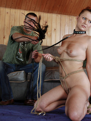 Gagballed slave girl being fucked from behind and - Picture 3