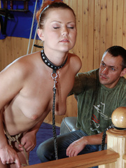 Gagballed slave girl being fucked from behind and - Picture 4