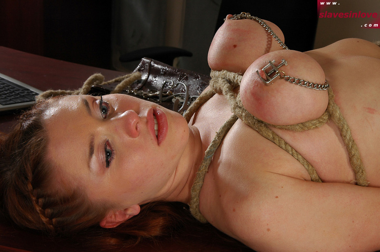 Huge breasted asian has her tits tied and pussy toyed - mya nicole bondage