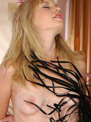 Pussy abused blonde slave girl gets her perfect breasts - Picture 7