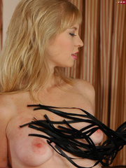 Pussy abused blonde slave girl gets her perfect breasts - Picture 10