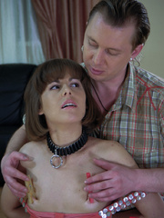 Skinny collared slave hottie suffers great pain from - Picture 2
