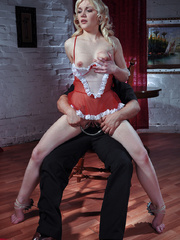 Innocent looking slave hottie in sexy outfit forced to - Picture 13