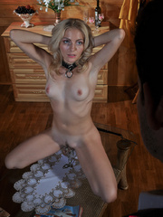 Submissive fuck slut riding her master's cock while her - Picture 4