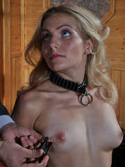 Submissive fuck slut riding her master's cock while her - Picture 5