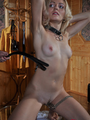 Submissive fuck slut riding her master's cock while her - Picture 10