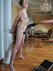 Helplessly bound slave hottie gets her body worked over - Picture 4