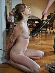 Helplessly bound slave hottie gets her body worked over - Picture 6