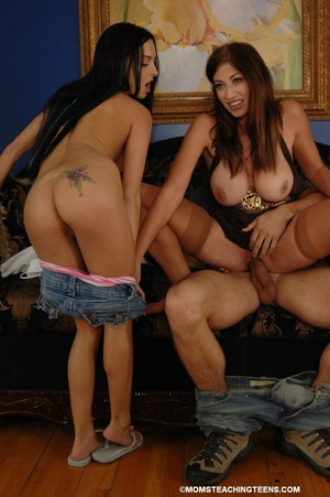 Mom teaches teen cock riding - XXX Dessert - Picture 9