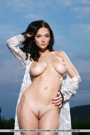 Raven-haired vixen with sultry gaze, lar - XXX Dessert - Picture 2