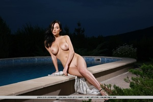 Raven-haired vixen with sultry gaze, lar - XXX Dessert - Picture 10