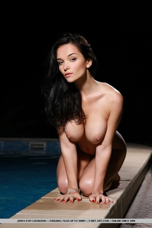 Raven-haired vixen with sultry gaze, lar - XXX Dessert - Picture 18