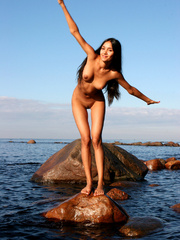 Exotic Lissa plays at the beach on the - XXX Dessert - Picture 6
