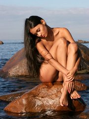Exotic Lissa plays at the beach on the - XXX Dessert - Picture 9
