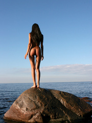 Exotic Lissa plays at the beach on the - XXX Dessert - Picture 10