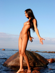 Exotic Lissa plays at the beach on the - XXX Dessert - Picture 13