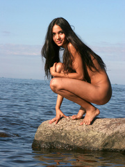 Exotic Lissa plays at the beach on the - XXX Dessert - Picture 14