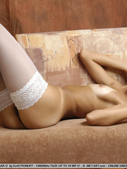 Tamara frolics in white hose and ballet - XXX Dessert - Picture 3