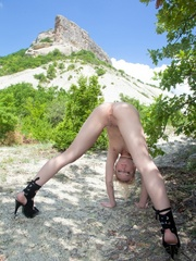 Tags: High heels, outdoors, puffy nipples, - XXX Dessert - Picture 2