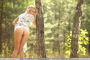 Garden nymph with tiny breasts , blonde  - XXX Dessert - Picture 16