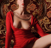 Tags: Big lips, dress, long legs, red, red dress,…