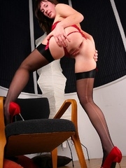 Anya Red Corset and dildo. - Sexy Women in Lingerie - Picture 6