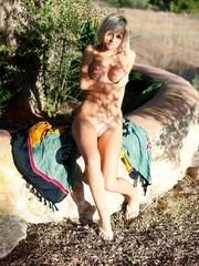 Abbie outdoors being arty - Sexy Women in Lingerie - Picture 9