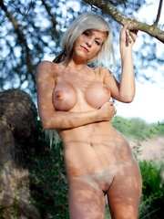 Abbie outdoors being arty - Sexy Women in Lingerie - Picture 10