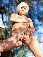 Abbie outdoors being arty - Sexy Women in Lingerie - Picture 12