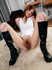 Hairy Karina with a big dildo. - Sexy Women in Lingerie - Picture 5