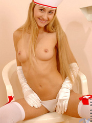 Juliette in nurse dress gets really - Sexy Women in Lingerie - Picture 13