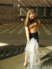 Gorgeous teen plays in the water on - Sexy Women in Lingerie - Picture 4