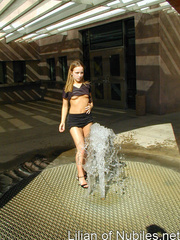 Gorgeous teen plays in the water on - Sexy Women in Lingerie - Picture 14