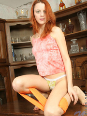 Hottie redhead olive is slowly - Sexy Women in Lingerie - Picture 8