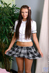 Schoolgirl rips off her stockings and shoves a…