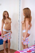Alluring teen Summersilver peels off her panty and stuffed her pussy with