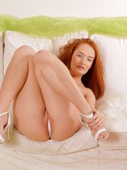Tempting red haired nymph shows off - Sexy Women in Lingerie - Picture 6