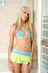 Sweet teen blonde lindie looks hot like fuck in a tiny bikini top and