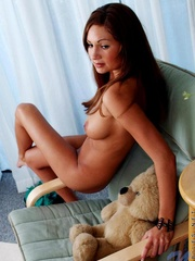 Naughty busty brunette tickles her - Sexy Women in Lingerie - Picture 15