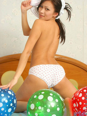 Asian chick with balloons and hard - Sexy Women in Lingerie - Picture 7