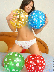 Asian chick with balloons and hard - Sexy Women in Lingerie - Picture 8