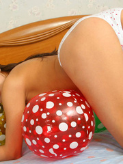 Asian chick with balloons and hard - Sexy Women in Lingerie - Picture 10