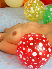 Asian chick with balloons and hard - Sexy Women in Lingerie - Picture 11