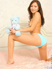 Teen nude babe  playing teddy; you - Sexy Women in Lingerie - Picture 4