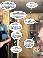 Blonde busty 3d police officer blows young - Cartoon Sex - Picture 3