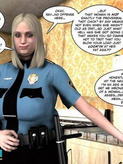 Blonde busty 3d police officer blows young - Cartoon Sex - Picture 6