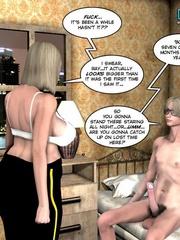 Blonde busty 3d police officer blows young - Cartoon Sex - Picture 9